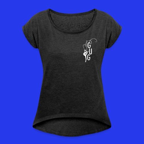 Damen - T-Shirt gerollte Ärmel - Boyfriendstil - DIGITAL DIREKTDRUCK - Frauen T-Shirt mit gerollten Ärmeln