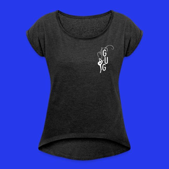 Damen - T-Shirt gerollte Ärmel - Boyfriendstil - DIGITAL DIREKTDRUCK