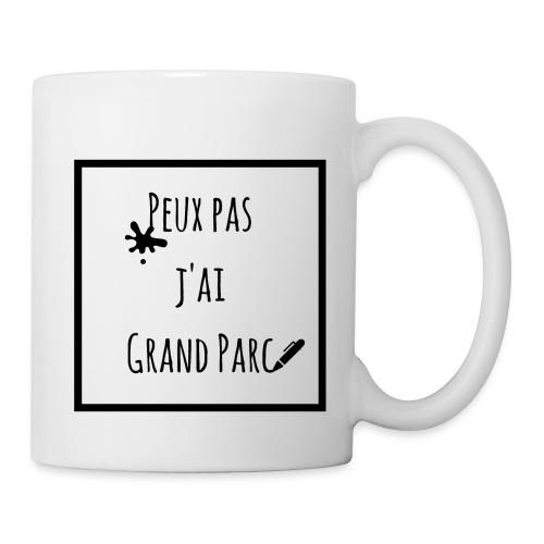 Tasse Peux pas j'ai Grand Parc  - Mug blanc