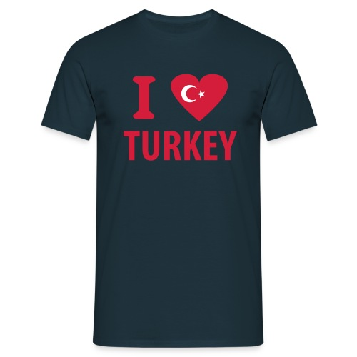 t shirt i love turkey - T-shirt Homme