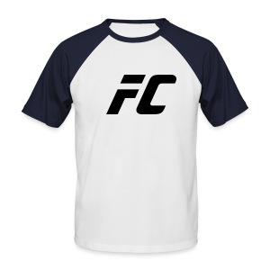 FC tee-shirt rouge  blanc  - T-shirt baseball manches courtes Homme