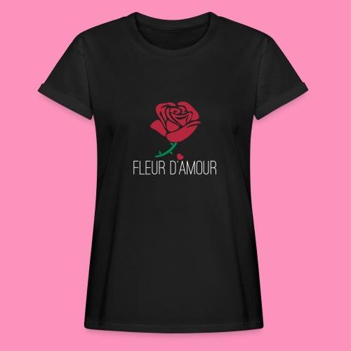 Fleur d'Amour - Frauen Oversize T-Shirt