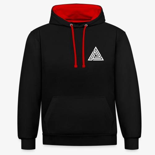 Triangle Logo Hoodie - Contrast Colour Hoodie