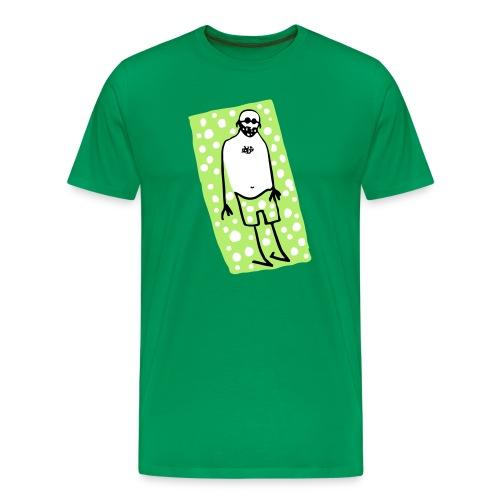 Mann auf dem Badetuch - Männer Premium T-Shirt