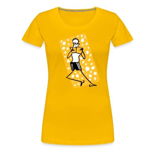Mann auf dem Badetuch - Frauen Premium T-Shirt