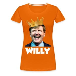 T-Shirt Willy Dames (Oranje) - Vrouwen Premium T-shirt
