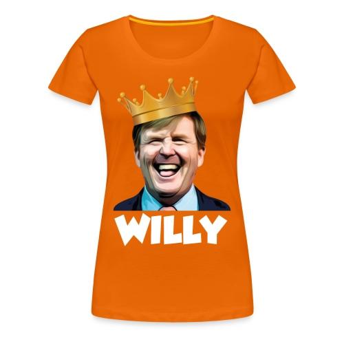 T-Shirt Willy Dames (Oranje) - Vrouwen Premium T-shirt