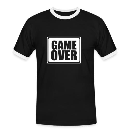 game over - Männer Kontrast-T-Shirt