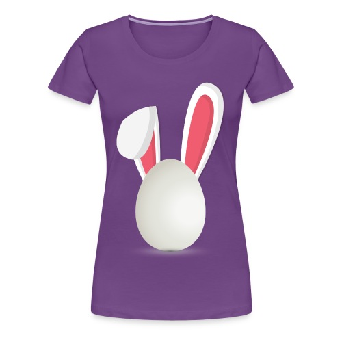 T-Shirt Dames Egg with Rabbit Ears (Paars) - Vrouwen Premium T-shirt