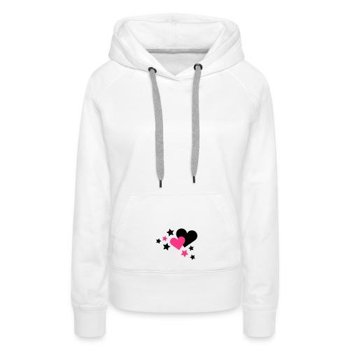 T-shirt cuore magico - Felpa con cappuccio premium da donna