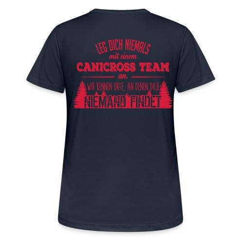Canicross Sport Shirt Frauen - Frauen T-Shirt atmungsaktiv