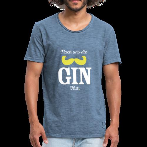GIN-Shirt - Männer Vintage T-Shirt