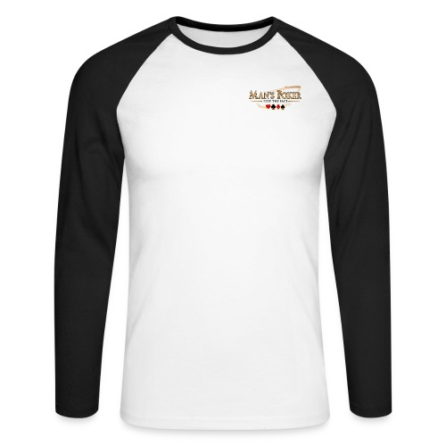 T-Shirt bi-color blanc/noir - T-shirt baseball manches longues Homme