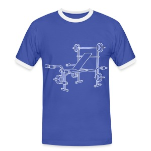 Hantelbank Bodybuilding - Männer Kontrast-T-Shirt