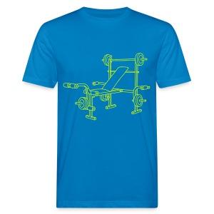 Hantelbank Bodybuilding - Männer Bio-T-Shirt