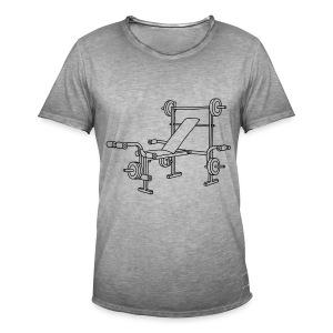Hantelbank Bodybuilding - Männer Vintage T-Shirt