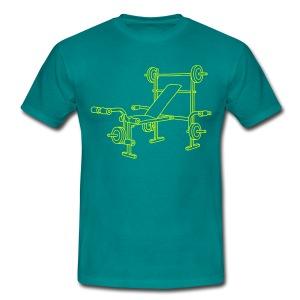 Hantelbank Bodybuilding - Männer T-Shirt
