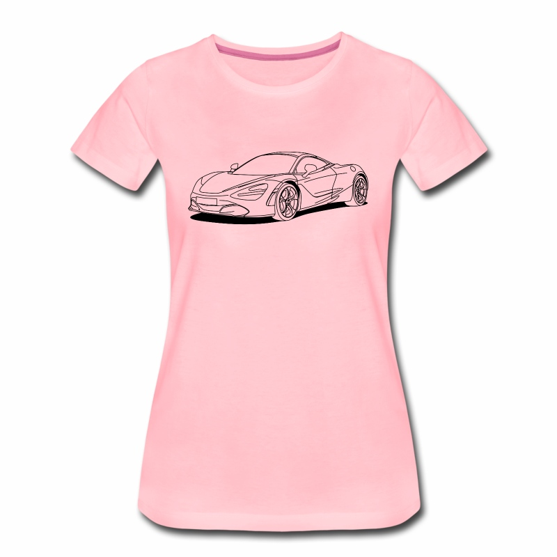 720s outline - Women's Premium T-Shirt