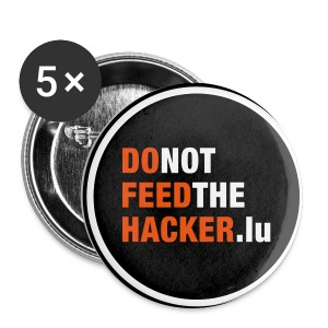 Do not feed the Hacker! (Black L) - Buttons large 56 mm