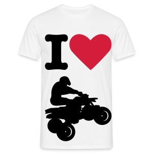 I love Quad - T-shirt Homme