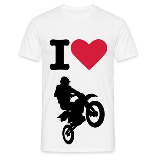 I love Motocross - T-shirt Homme