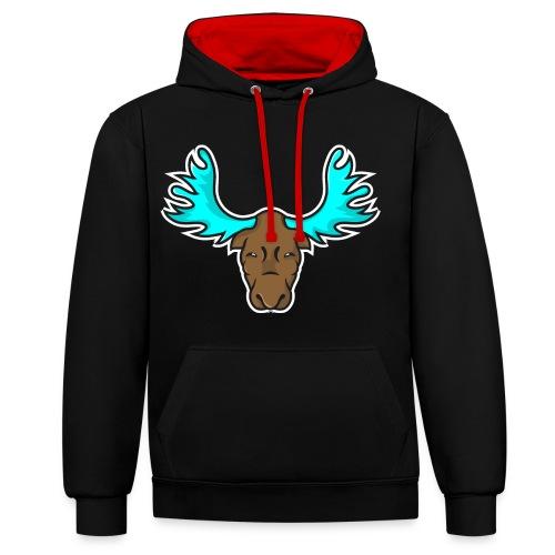 Albert the Moose Hoodie - Contrast Colour Hoodie