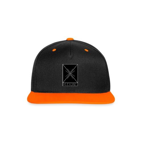 X Snapback Cap - Kontrast Snapback Cap