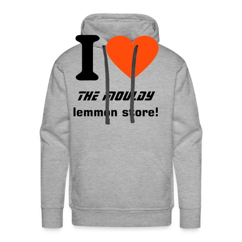 I Heart the Mouldy Lemmon Store Hooded Jumper - Men's Premium Hoodie