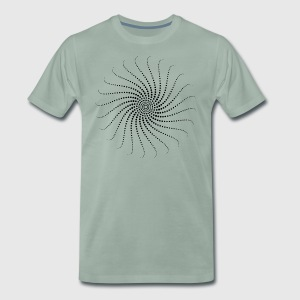 Spiral, psychedelic, trance, goa, house, rave, om, - Men's Premium T-Shirt