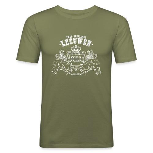 Brullende leeuwen mannen slimfit - slim fit T-shirt