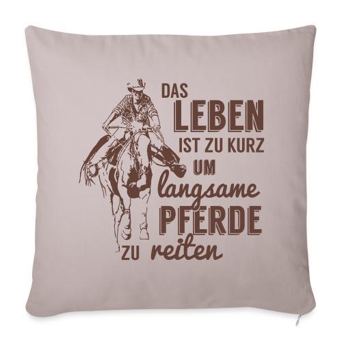 Langsame Pferde reiten - Sofakissenbezug 44 x 44 cm