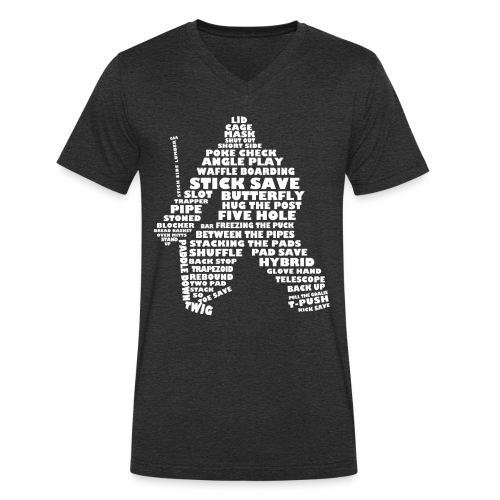 Hockey Goalie Terminology Men's V-Neck T-Shirt - Men's Organic V-Neck T-Shirt by Stanley & Stella
