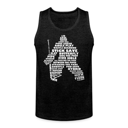 Hockey Goalie Terminology Men's Vest Top - Men's Premium Tank Top