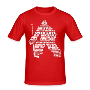 Hockey Goalie Terminology Men's Slim Fit T-Shirt - Men's Slim Fit T-Shirt