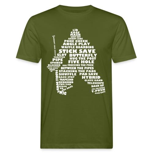 Hockey Goalie Terminology Men's Organic T-Shirt - Men's Organic T-Shirt