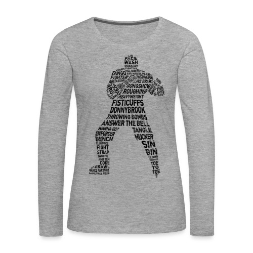 Hockey Enforcer Typography Women's Long Sleeve T-Shirt - Women's Premium Longsleeve Shirt