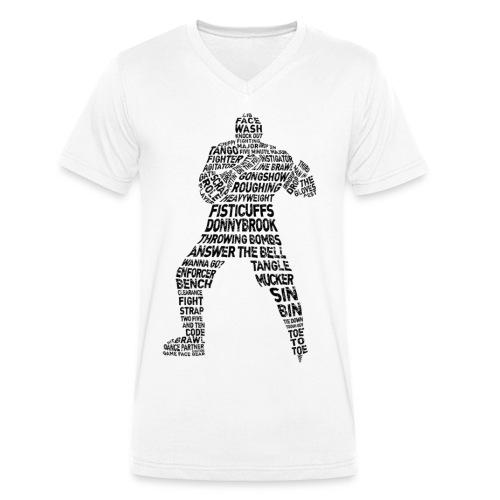 Hockey Enforcer Typography Men's V-Neck T-Shirt - Men's Organic V-Neck T-Shirt by Stanley & Stella