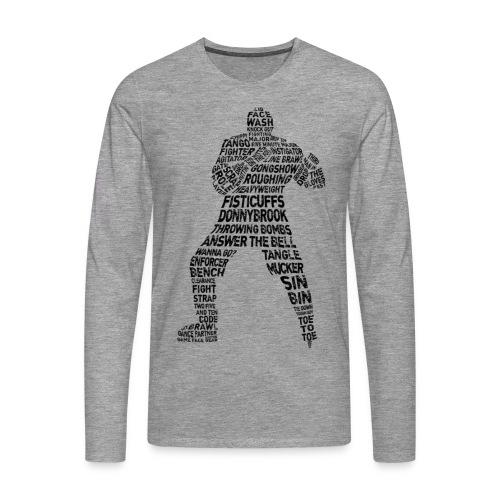 Hockey Enforcer Typography Men's Long Sleeve T-Shirt - Men's Premium Longsleeve Shirt