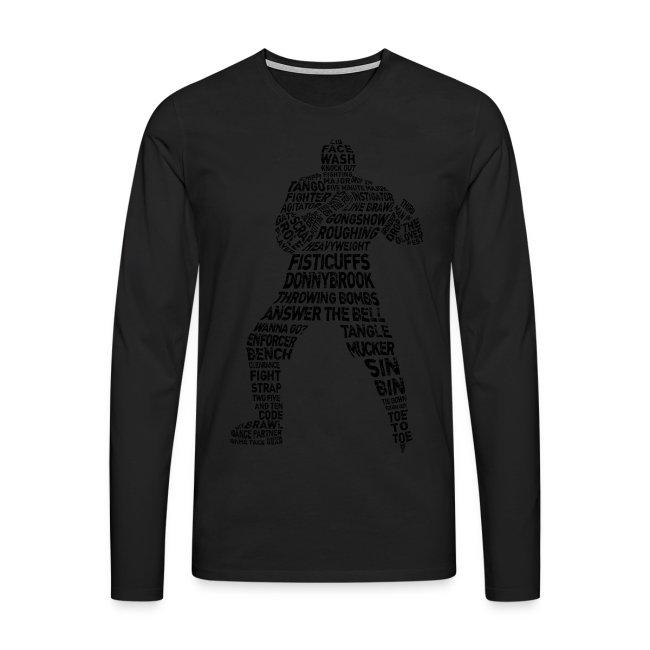 Hockey Enforcer Typography Men's Long Sleeve T-Shirt