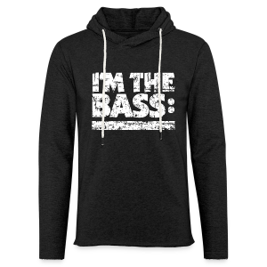 I'M THE BASS Vintage White Line Light Hoodie - Leichtes Kapuzensweatshirt Unisex