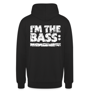 I'M THE BASS Vintage White Line Hoodie - Unisex Hoodie