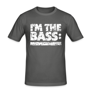 I'M THE BASS Vintage White Line Slim Fit - Männer Slim Fit T-Shirt