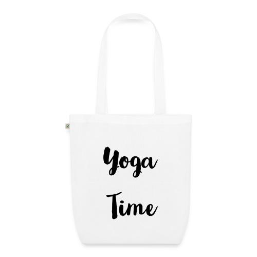 Tote bag écologique yoga time - Sac en tissu biologique
