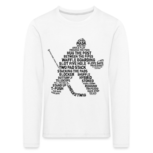 Ice Hockey Goalie Terminology Children's Long Sleeve T-Shirt - Kids' Premium Longsleeve Shirt
