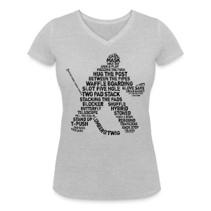 Ice Hockey Goalie Terminology Women's V-Neck T-Shirt - Women's Organic V-Neck T-Shirt by Stanley & Stella