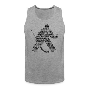 Ice Hockey Goalie Terminology Men's Vest Top - Men's Premium Tank Top