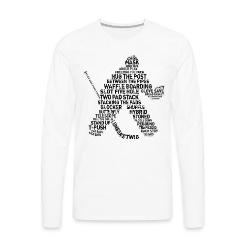 Ice Hockey Goalie Terminology Men's Long Sleeve T-Shirt - Men's Premium Longsleeve Shirt