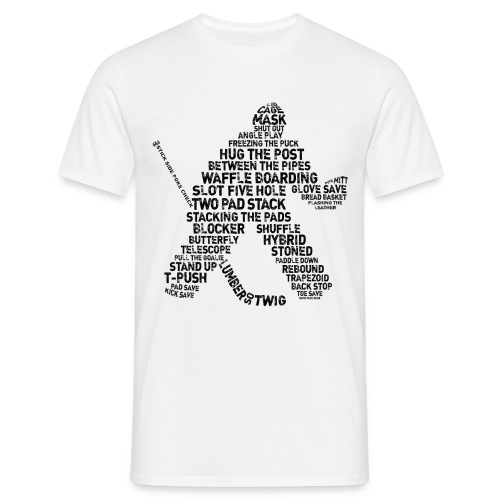 Ice Hockey Goalie Terminology (Black)