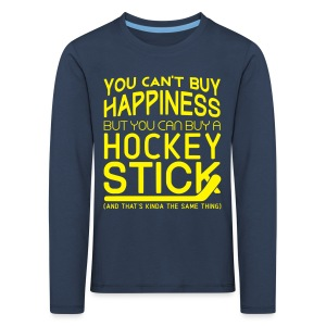 You Can't Buy Happiness (Hockey) Children's Long Sleeve T-Shirt - Kids' Premium Longsleeve Shirt