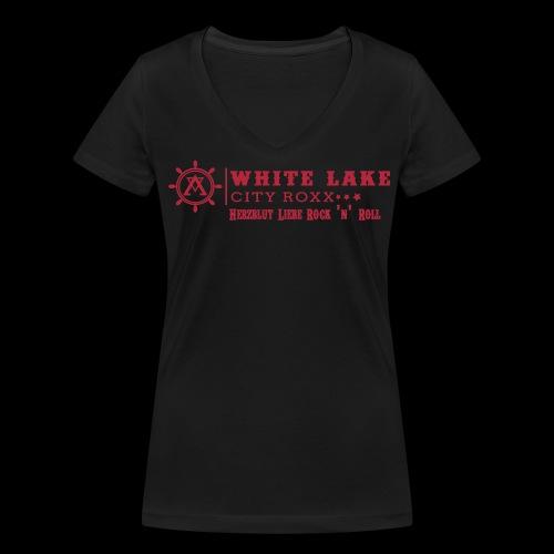 Herzblut Shirt Girls - Frauen Bio-T-Shirt mit V-Ausschnitt von Stanley & Stella